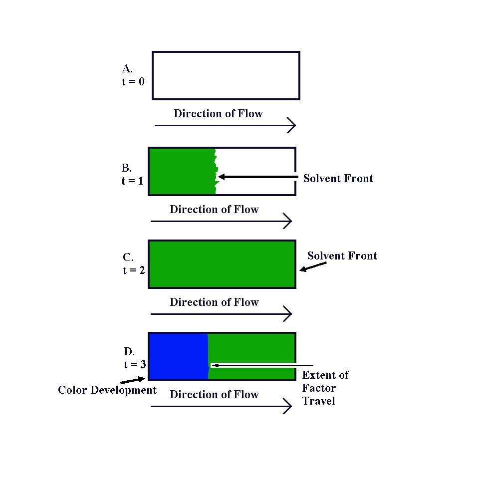 Figure 1: Travel of Solvent and Color Development